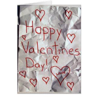 El día de San Valentín feliz, rasgado y grabado ju Felicitación