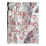 El día de San Valentín feliz, rasgado y grabado ju Postal