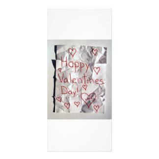 El día de San Valentín feliz, rasgado y grabado ju Tarjetas Publicitarias