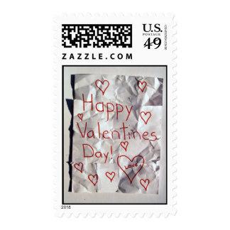 El día de San Valentín feliz, rasgado y grabado Sellos