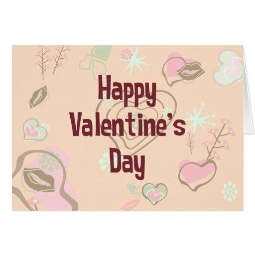 El día de San Valentín feliz retro Felicitación