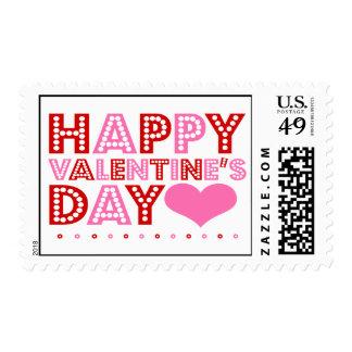 El día de San Valentín feliz Sellos