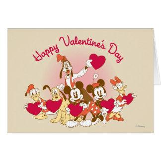 El día de San Valentín feliz Tarjetón