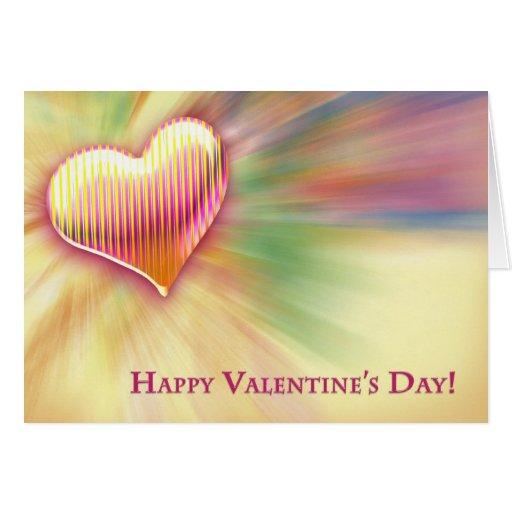 ¡El día de San Valentín feliz! - Tarjeta
