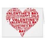 El día de San Valentín feliz Tarjeta
