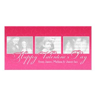 El día de San Valentín feliz Tarjeta Fotografica Personalizada