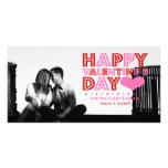 El día de San Valentín feliz Tarjetas Personales Con Fotos