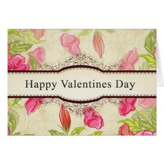 El día de San Valentín feliz Tarjeta Pequeña