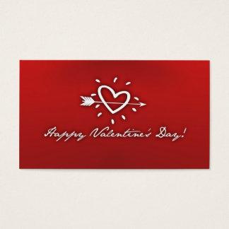 El día de San Valentín feliz Tarjetas De Visita