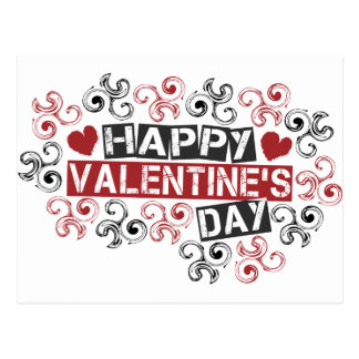 el día de San Valentín feliz Tarjetas Postales