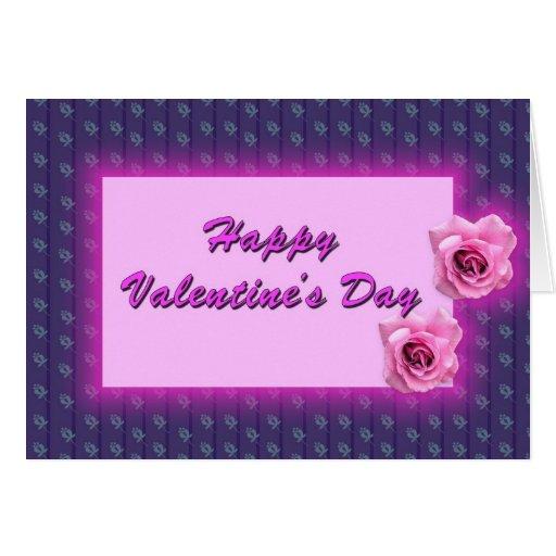El día de San Valentín feliz Tarjeton