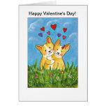 ¡El día de San Valentín feliz! Tarjetón