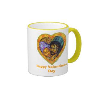 El día de San Valentín feliz Taza