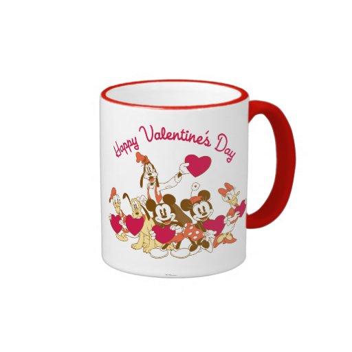 El día de San Valentín feliz Taza A Dos Colores