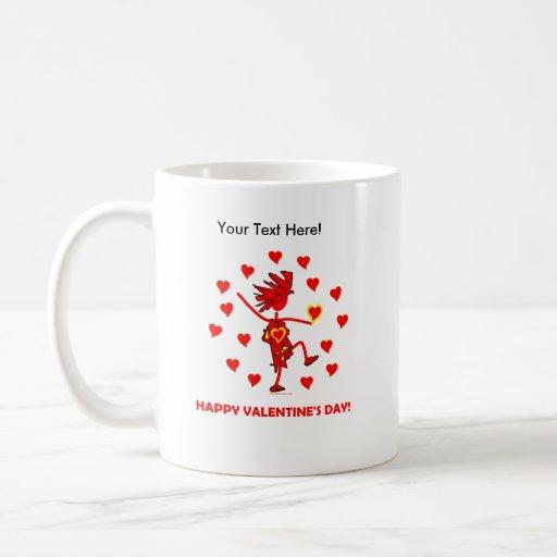 El día de San Valentín feliz Taza De Café