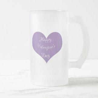 El día de San Valentín feliz Taza De Cristal