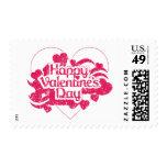 El día de San Valentín feliz (vintage) Franqueo