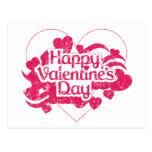 El día de San Valentín feliz (vintage) Postal