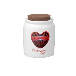 El día de San Valentín Jarra Para Caramelo