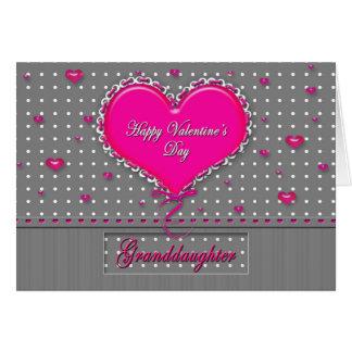 El día de San Valentín Graddaughter- Tarjeta De Felicitación