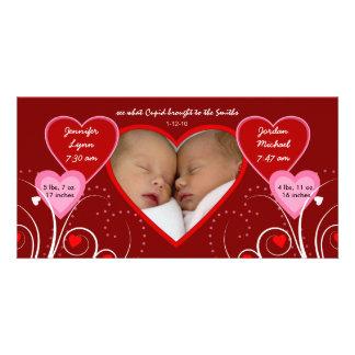 El día de San Valentín - invitación del bebé de lo Tarjeta Con Foto Personalizada