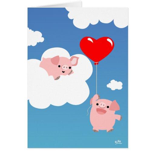 El día de San Valentín: Las alas del notecard del  Felicitacion