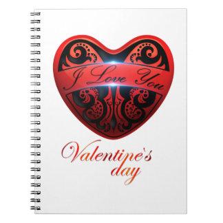 El día de San Valentín Libreta Espiral