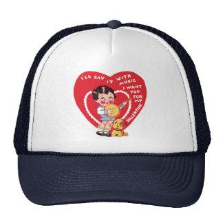 El día de San Valentín lindo del vintage, banjo de Gorra