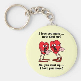El día de San Valentín lindo y divertido Llavero Redondo Tipo Pin
