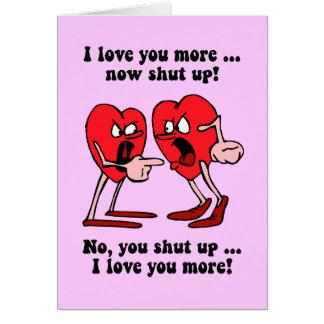 El día de San Valentín lindo y divertido Tarjetas