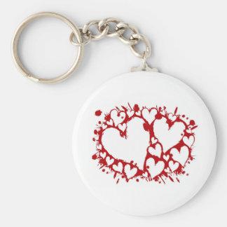 El día de San Valentín Llavero Redondo Tipo Pin