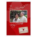 El día de San Valentín, mi marido - plantilla de l Tarjeta