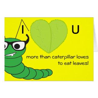 El día de San Valentín nerdy divertido de los vidr Felicitación