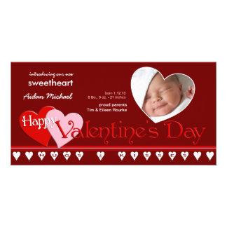 El día de San Valentín - nueva invitación del bebé Tarjetas Fotograficas