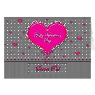 El día de San Valentín PAL secreto - Tarjeta De Felicitación