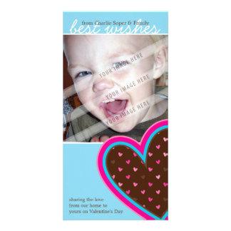 EL DÍA DE SAN VALENTÍN PHOTOCARD:: corazones enrro Tarjeta Fotografica Personalizada