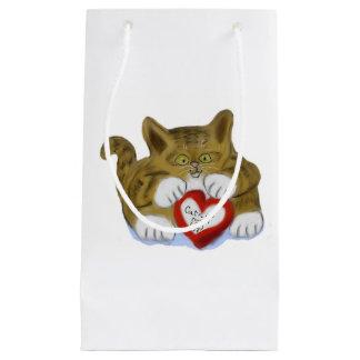 El día de San Valentín presente para el gatito del Bolsa De Regalo Pequeña