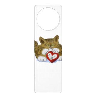 El día de San Valentín presente para el gatito del Colgante Para Puerta