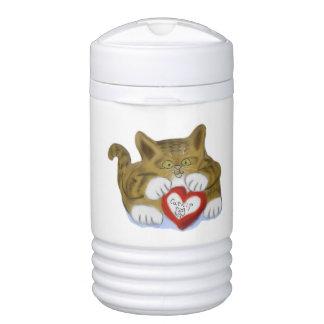 El día de San Valentín presente para el gatito del Vaso Enfriador Igloo