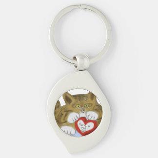 El día de San Valentín presente para el gatito del