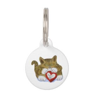 El día de San Valentín presente para el gatito del Placas De Mascota