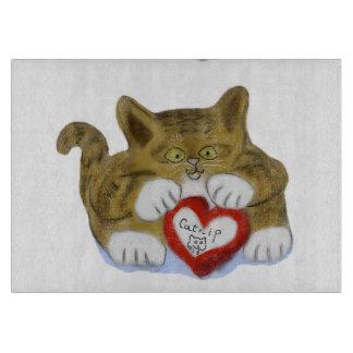 El día de San Valentín presente para el gatito del Tablas Para Cortar