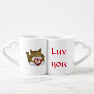 El día de San Valentín presente para el gatito del Taza Para Parejas