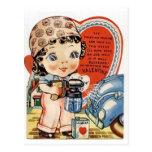 El día de San Valentín retro Tarjetas Postales