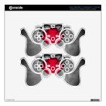 El día de San Valentín rojo gótico del corazón Skins Para Mandos PS3