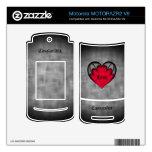 El día de San Valentín rojo gótico del corazón MOTORAZR2 V9 Skin
