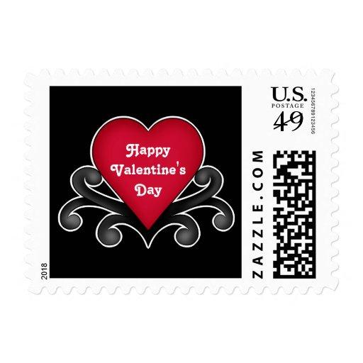 El día de San Valentín rojo romántico del corazón