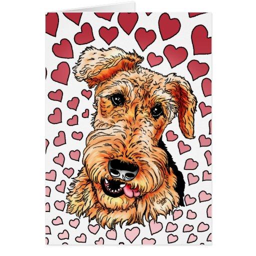 El día de San Valentín rosado de los corazones de Tarjeta De Felicitación