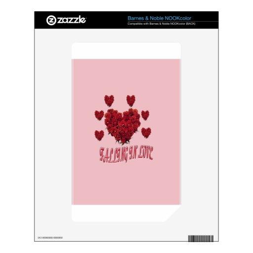 El día de San Valentín rosado dulce del amor Skins Para elNOOK Color