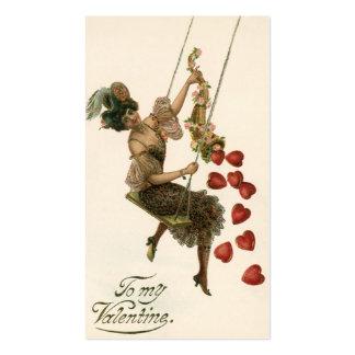 El día de San Valentín, señora y corazones del Tarjetas De Visita